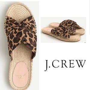 J. Crew Twisted-Knot Espadrilles Flats Sandals NIB